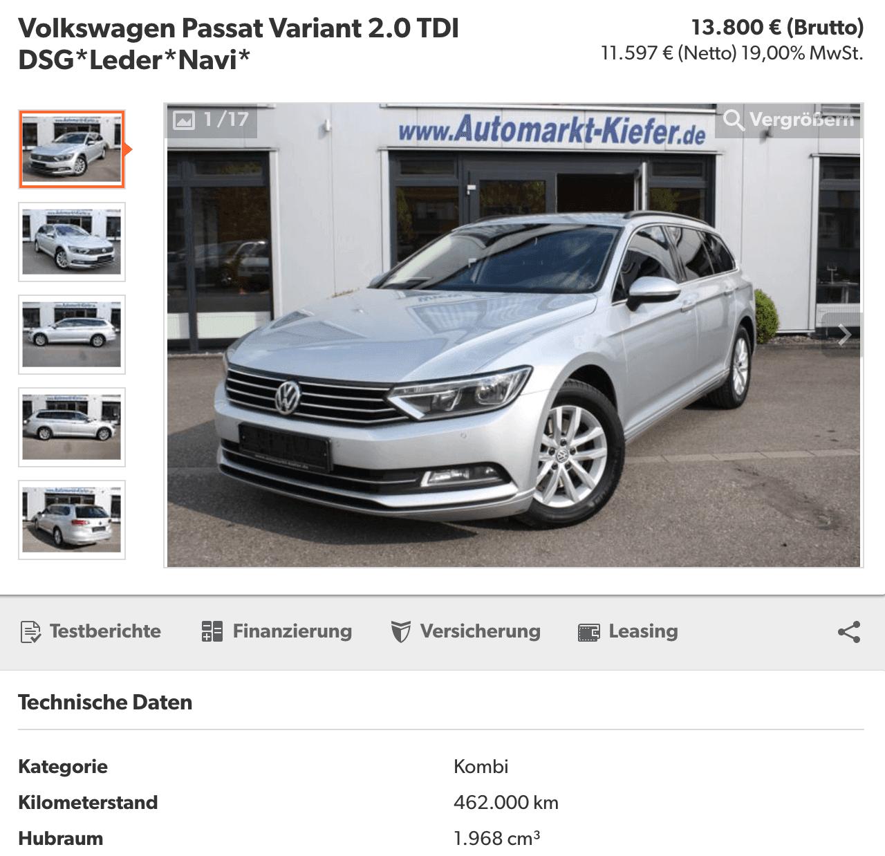 Volkswagen Passat 2,0 TDi 170 Highline DSG 2015 si 462 000 KM