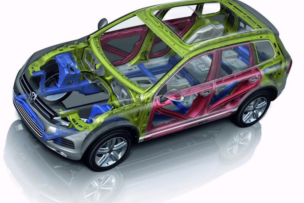 Structura VW Touareg Lonjeroane