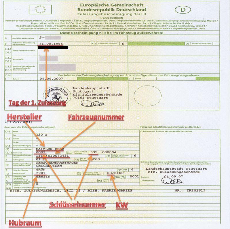 Fahrzeugbrief (brief mare) Germania