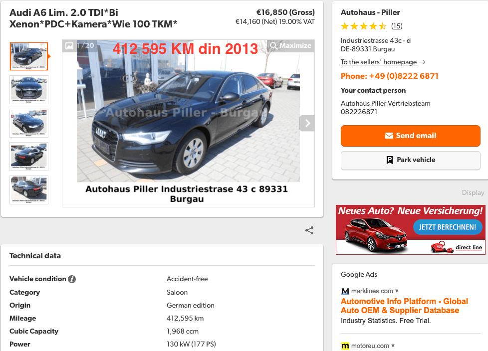 Audi A6 2.0 TDI 412595 KM - InspectorAuto