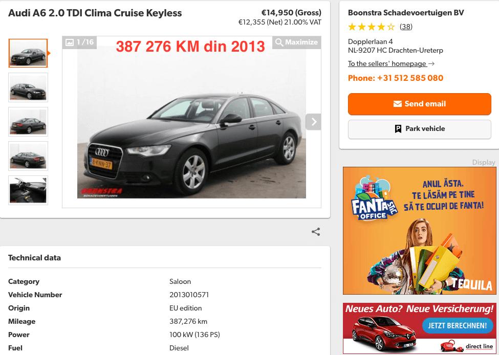 Audi A6 2.0 TDI Clima 387626 KM - InspectorAuto.ro