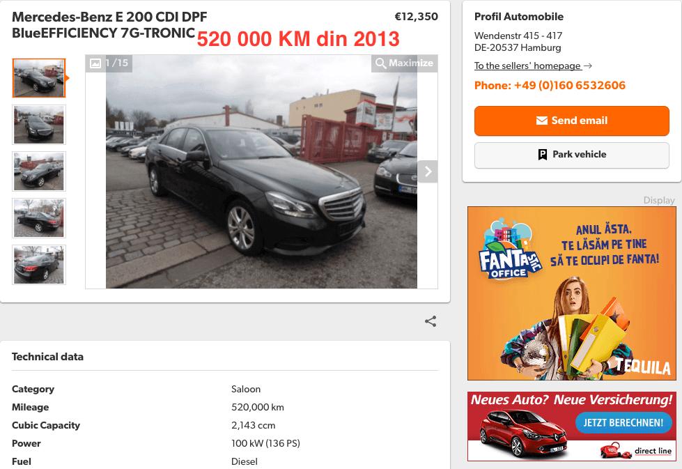 Mercedes-Benz e200 CDI 520000 KM - InspectorAuto.ro