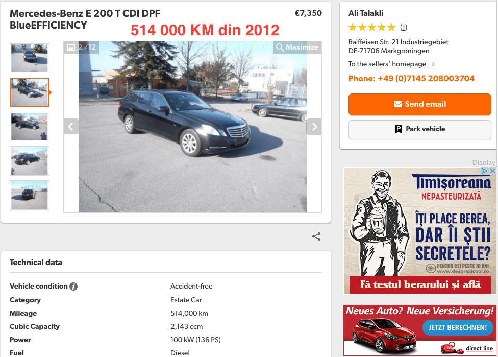 Mercedes-Benz E200 T 514000 KM - InspectorAuto.ro