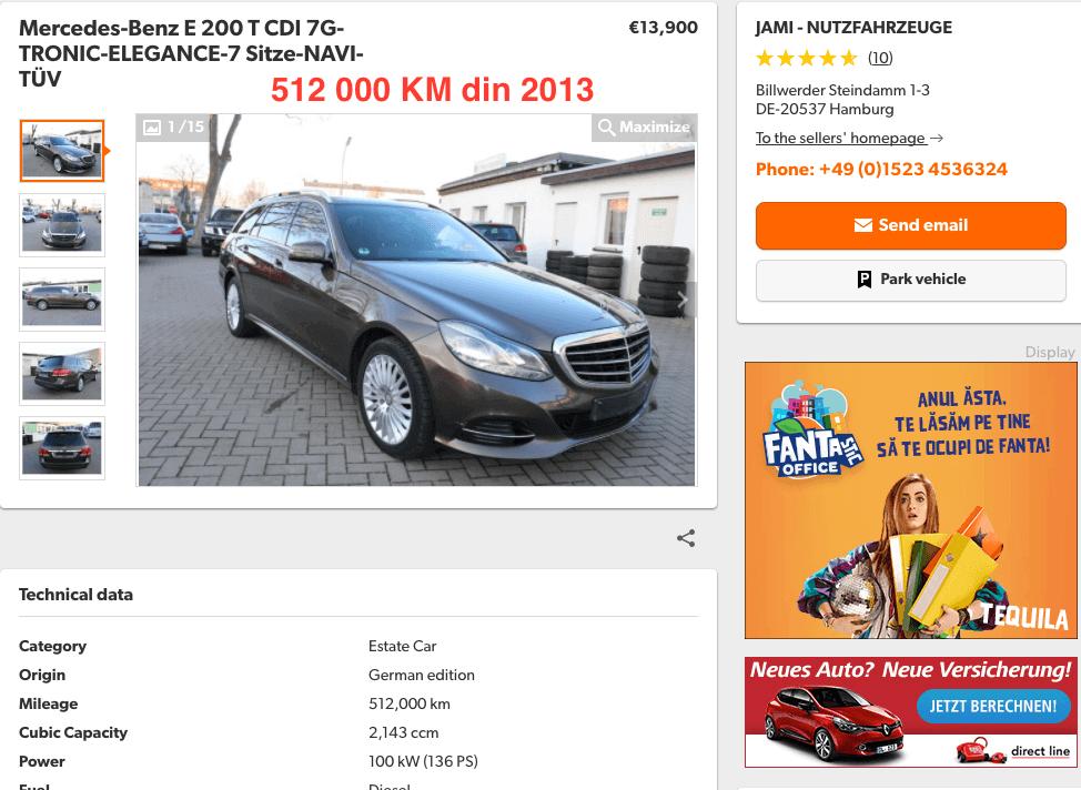 Mercedes-Benz E200 CDI 512000 KM - InspectorAuto.ro