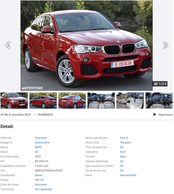 BMW x4 wbaxx110x00l95252