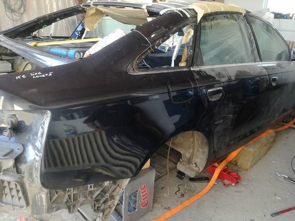 Audi A6 sudat din 2 masini - potrivirea celor 2 bucati
