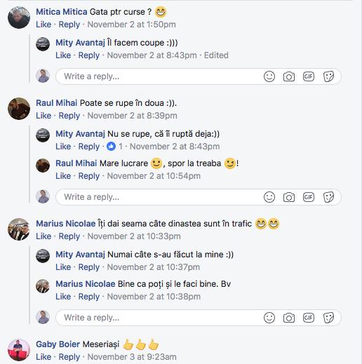 Comentariile prietenilor pe facebook la lucrarea de nota 10