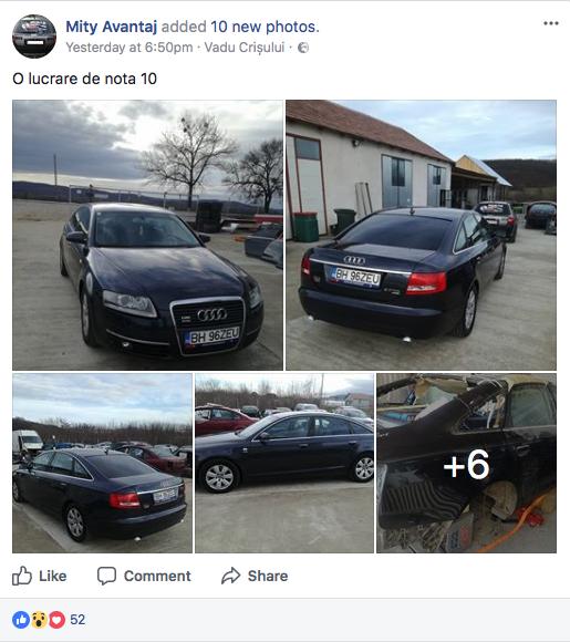 Audi a6 taiat si facut din 2 bucati, o lucrare de nota 10