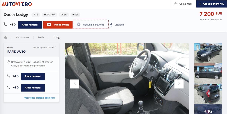 Dacia Logdy avariata