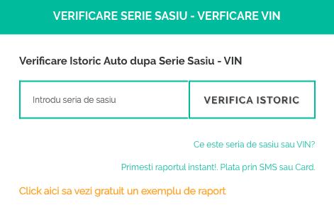 formular introducere vin - serie de sasiu pe inspectorauto.ro