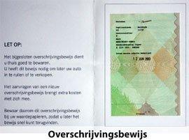 certificat transfer masina Olanda