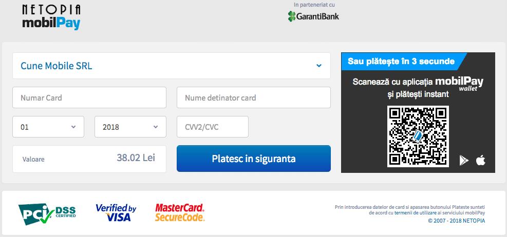plata cu cardul pe inspectorauto.ro