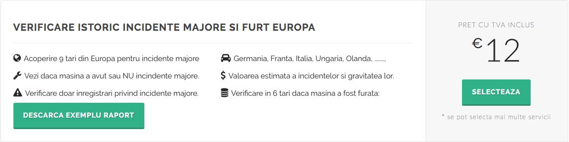 verificare istoric incidente majore si furt Europa - inspectorauto.ro